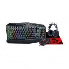 Combo Gaming Essentials 4 em 1 S112 Teclado, Mouse, Mousepad e Headset, Redragon S112