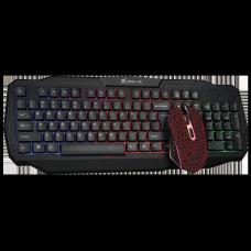 Combo Mouse e Teclado Xtrike-Me MK-501, 3200DPI, RGB, 6 Botões Programáveis, backlit, Black/Red, MK501KIT