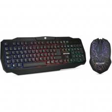 Combo Teclado e Mouse Dazz Battlefire 624651 USB Preto