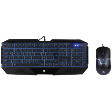 Combo Teclado e Mouse HP GK1100, Led Blue, 1600 DPI, Black - Open Box