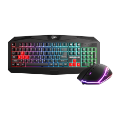 Combo Teclado e Mouse KWG Aries E1, RGB, Black, Aries E1, Orion E1