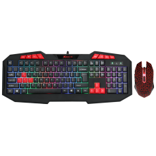 Combo Teclado e Mouse Xtrike-Me, Rainbow, Black, 3200 DPI, 112 Teclas, MK-503KIT