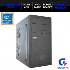 Computador NTC Mini-ITX T-Home Intel Pentium G5400 / 4GB DDR4 / SSD 240GB / Linux