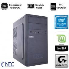 Computador NTC Mini-ITX T-Home Intel Celeron G5900 / 4GB DDR4 / SSD 120GB / Linux