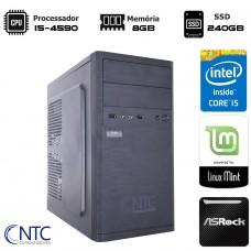 Computador NTC T-Gamer Intel i5 4460 / 8GB DDR3 / SSD 240GB / Linux
