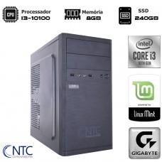 Computador NTC T-MOBA Intel i3 10100 / 8GB DDR4 / SSD 240GB / Linux