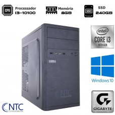 Computador NTC T-MOBA Intel i3 10100 / 8GB DDR4 / SSD 240GB / Windows 10 Pro