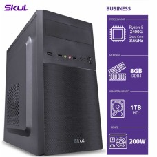 Computador Skul T-Gamer Business B500 Ryzen 5 2400G / 8GB DDR4 / HD 1TB  / HDMI/VGA / FONTE 200W