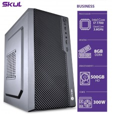 Computador Skul T-Gamer Business B700 i7 7700 / 8GB DDR4 / HD 500GB  / HDMI/VGA / FONTE 300W