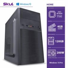 Computador Skul T-Home H200 AMD A8 9600 / 4GB DDR4 / SSD 120GB / HDMI/VGA / FONTE 200W / Windows 10 Pro