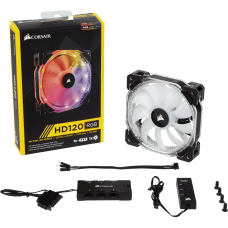 Cooler para Gabinete Corsair HD120 RGB, 120mm, com Controlador, CO-9050066-WW
