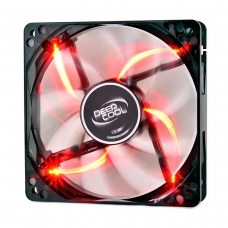 Cooler para Gabinete Deepcool Wind Blade, LED Red 120mm, DP-FLED-WB120-RD