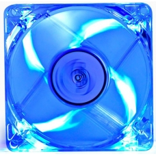Cooler para Gabinete Deepcool XFAN80 L/B, LED Azul 80mm, DP-FLED-XF80LB
