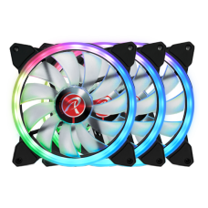 Kit com 3 Fans Raijintek Iris 14 RBW ADD-3, ARGB, 140mm, 0R40B00115