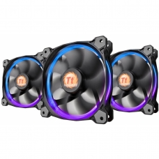 Kit Fan com 3 Unidades Thermaltake Riing 14, RGB 140mm, CL-F043-PL14SW-B