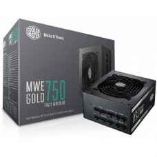 Fonte Cooler Master MWE 750W, 80 Plus Gold, PFC Ativo, Full Modular, MPY-7501-AFAAG-WO