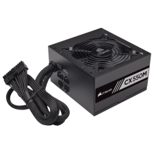 Fonte Corsair CX550M 550W, 80 Plus Bronze, PFC Ativo, Semi Modular, CP-9020102-WW