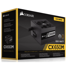 Fonte Corsair CX650M 650W, 80 Plus Bronze, PFC Ativo, Semi Modular, CP-9020103-WW