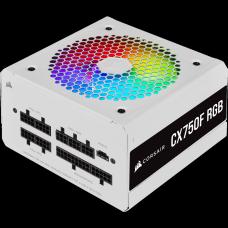 Fonte Corsair CX750F, White, RGB, 750W, 80 Plus Bronze, CP-9020227-BR