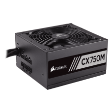 Fonte Corsair CX750M 750W, 80 Plus Bronze, PFC Ativo, Semi Modular, CP-9020061-WW