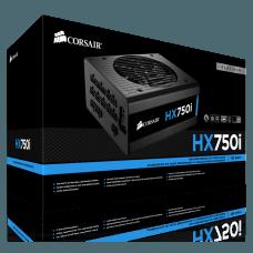 Fonte Corsair HX750i 750W, 80 Plus Platinum, Cabos Modulares, PFC Ativo, CP-9020072-WW