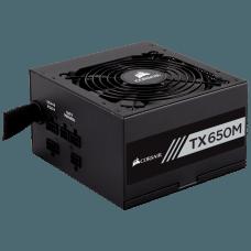Fonte Corsair TX650M 650W, 80 Plus Gold, PFC Ativo, Semi Modular, CP-9020132-WW