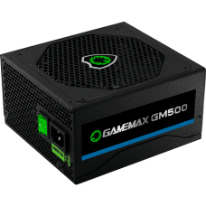 Fonte Gamemax GM500 500W, 80 Plus Bronze, PFC Ativo, OEM, sem caixa.