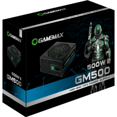 Fonte Gamemax GM500 500W, 80 Plus Bronze, PFC Ativo
