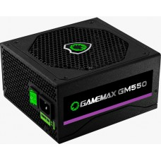 Fonte Gamemax GM550 550W, 80 Plus Bronze, PFC Ativo, Black