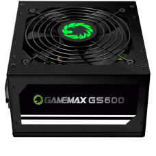 Fonte Gamemax GS600, 600W, 80 Plus White, PFC Ativo, Black