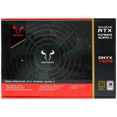 Fonte Riotoro Onyx 750W, 80 Plus Bronze, PFC Ativo, Semi Modular, PR-BA0750-SM