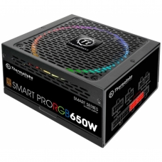 Fonte Thermaltake Smart Pro RGB 650W, 80 Plus Bronze, PFC Ativo, Full Modular, PS-SPR-0650FPCBBZ-R