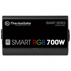 Fonte Thermaltake Smart Series RGB 700W, 80 Plus white, PFC Ativo, PS-SPR-0700NHFAWB-1