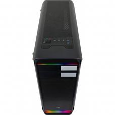 Gabinete Gamer Aerocool Aero 500G RGB BK, Mid Tower, Com 1 Fan, Vidro Temperado, Black, S-Fonte
