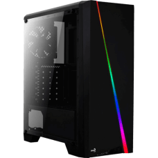 Gabinete Gamer Aerocool, Cylon RGB, Mid Tower, Acrílico, Black, S/Fonte, C/1 Fan