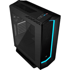 Gabinete Gamer Aerocool Gamer Project 7, Mid Tower, Com 1 Fan, Lateral em Acrílico, Black, S-Fonte, P7-C1