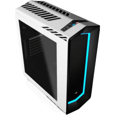 Gabinete Gamer Aerocool Project 7, Mid Tower, Com 1 Fan, Lateral em Acrílico, White, S-Fonte, P7-C1