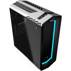 Gabinete Gamer Aerocool Project 7, Mid Tower, Com 1 Fan, Vidro Temperado, White, S-Fonte, P7-C1 WG