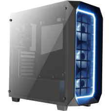 Gabinete Gamer Aerocool Project 7 Pro RGB, Mid Tower, Com 4 Fans, Vidro Temperado, Black, S-Fonte, P7-C0