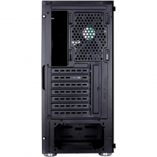 Gabinete Gamer Aerocool Quartz RGB, Mid Tower, Com 4 Fans, Vidro Temperado, Black, S-Fonte
