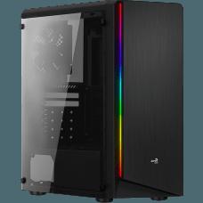 Gabinete Gamer Aerocool Rift RGB, Mid Tower, Com 1 Fan, Lateral em Acrílico, Black, S-Fonte