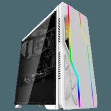 Gabinete Gamer Bluecase BG-009W RGB, Mid Tower, White, S-fonte, BG009WG