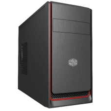 Gabinete Gamer Cooler Master Masterbox E300L, Mid Tower, Black/Red, Sem Fonte, Com 1 Fan, MCB-E300L-KN5N-B00