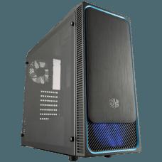 Gabinete Gamer Cooler Master MASTERBOX E500L, Mid Tower, Com 2 Fans, Black, Sem Fonte, MCB-E500L-KA5N-S00-Blue