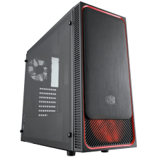 Gabinete Gamer Cooler Master MASTERBOX E500L, Mid Tower, Black, Sem Fonte, Com 2 Fans, MCB-E500L-KA5N-S01-RED