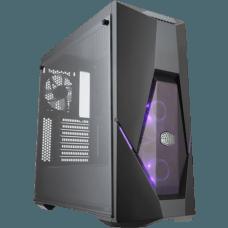 Gabinete Gamer Cooler Master Masterbox K500 RGB, Mid Tower, Com 3 Fans, Vidro Temperado, Black, S-Fonte, MCB-K500D-KGNN-S00