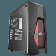 Gabinete Gamer Cooler Master Masterbox K500L, Mid Tower, Com 3 Fans, Lateral em Acrílico, Black, S-Fonte, MCB-K500L-KANN-S00