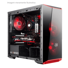 Gabinete Gamer Cooler Master MasterBox Lite 3.1, Mini Tower, Com 1 Fan, Black, S-Fonte, MCW-L3B3-KANN-01