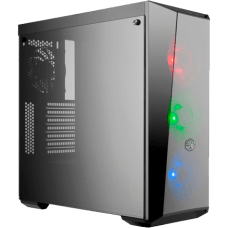 Gabinete Gamer Cooler Master Masterbox Lite 5 RGB, Mid Tower, Com 4 Fans, Vidro Temperado, Black, S-Fonte, MCW-L5S3-KGNN-02