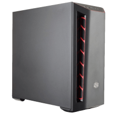 Gabinete Gamer Cooler Master Masterbox MB501L, Mid Tower, Com 1 Fan, Black, S-Fonte, MCB-B501L-KNNN-S00-RED